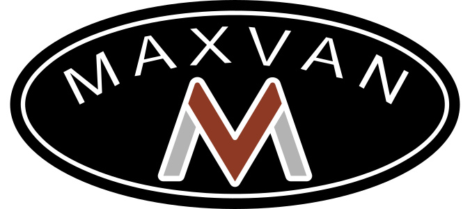 maxvan oval logo and text simple