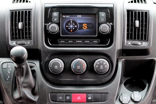 maxvan ram promaster dash panel radio and controls